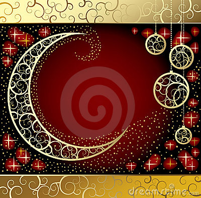 Free Card With A Moon Royalty Free Stock Photo - 7121775