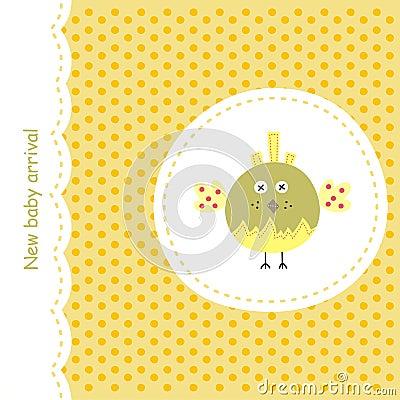 Card with yellow bird