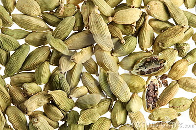 Cardamom seeds close up .