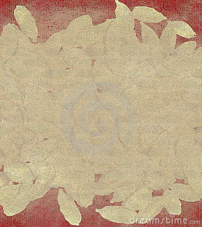 Cardamon cream and red background