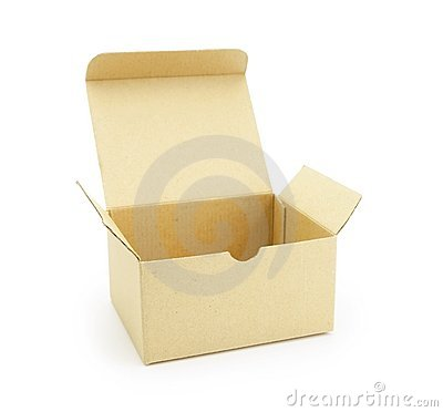 Cardboard box with flip open lid,