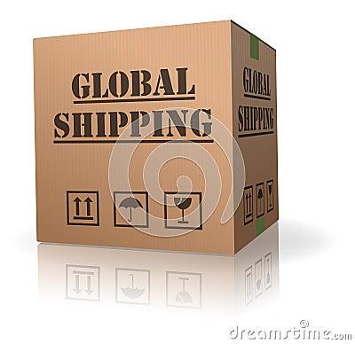 Cardboard box global international order shipping