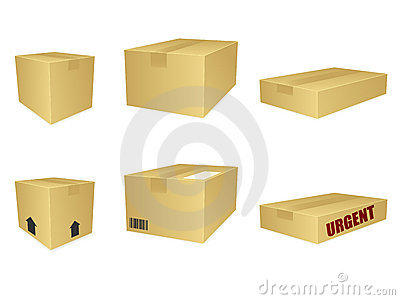 Cardboard Box Icons EPS