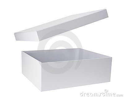 cardboard box with lid royalty free stock photography