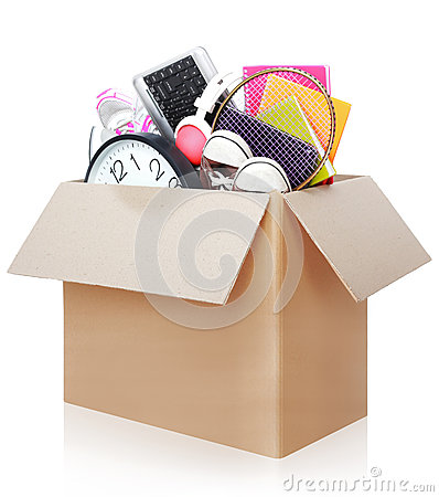 Free Cardboard Box. Moving Day Concept Stock Photos - 36809883