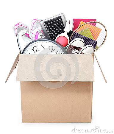 Free Cardboard Box. Moving Day Concept Stock Photo - 36809910