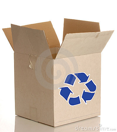 Cardboard Box With Recycle Royalty Free Stock Photos - Image: 6782958