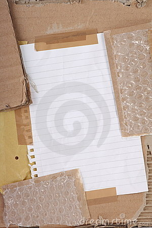 Cardboard and Bubble Wrap