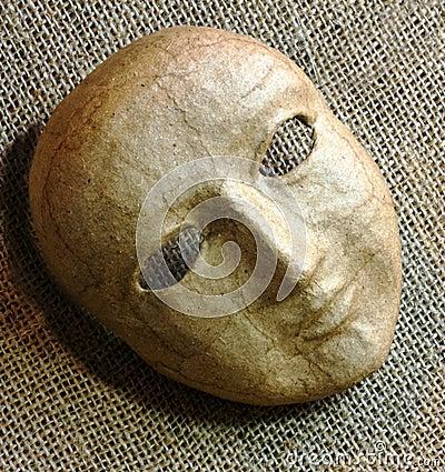 Mask on Burlap
