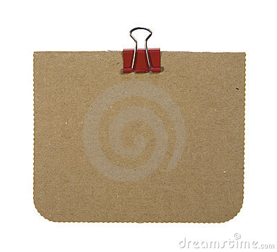 Cardboard Note With Clip