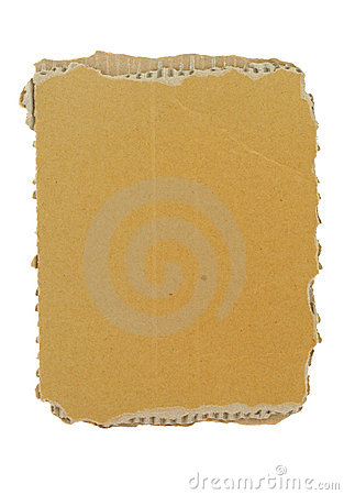 Free Cardboard Piece On White Stock Photography - 1240742