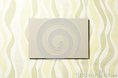 Cardboard rectangle on wallpaper 04