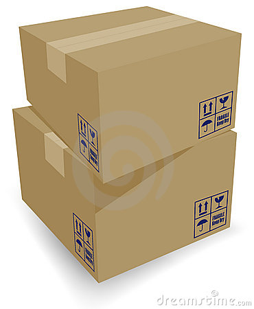 Free Cardboard Shipping Boxes Stock Photography - 2717882