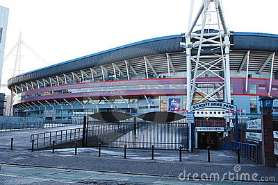 Cardiff Arms Park, Wales Editorial Stock Image
