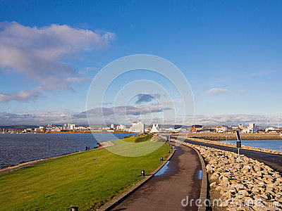 Cardiff Bay Barrage in Wales, UK