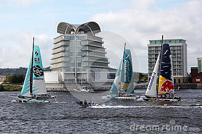Cardiff Bay Extreme Sailing Race 2012 Editorial Photography