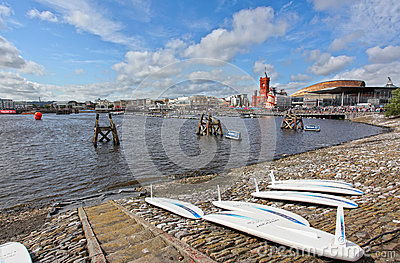 Cardiff Bay shore Editorial Photography