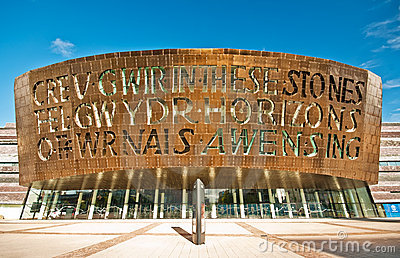 Cardiff Millenium Centre Editorial Photography