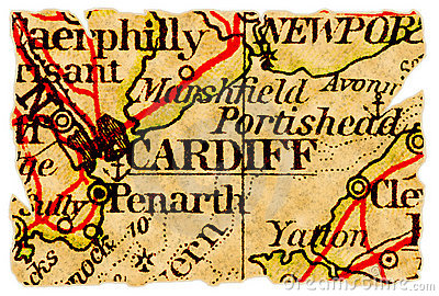 Cardiff old map