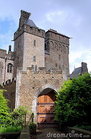Cardiff, Wales: Entrance to Cardiff Castle