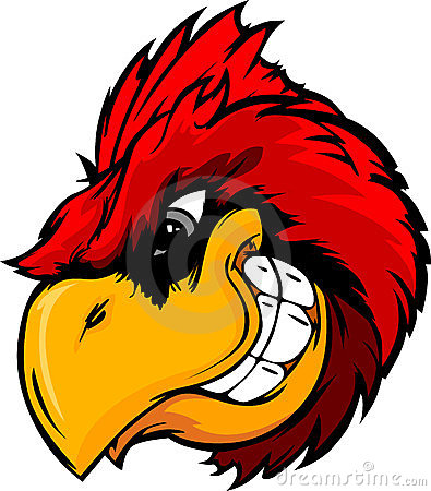 Free Cardinal Or Red Bird Head Cartoon Stock Image - 23586921