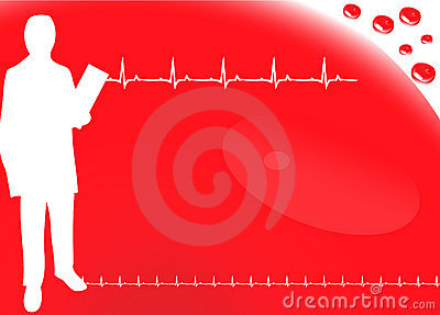 Cardio background with ecg icons, Blood