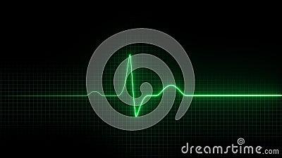 cardiogram побейте сердце EKG иллюстрация вектора
