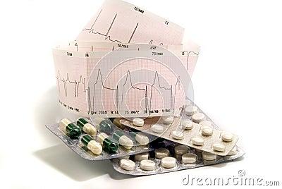 Cardiogram and pills