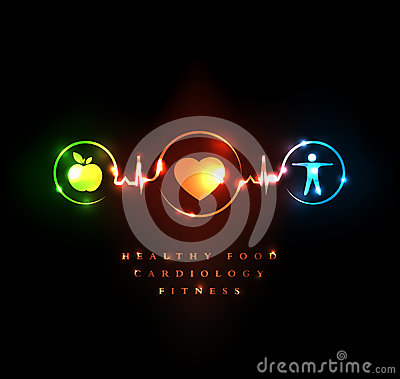 Cardiology and wellness Vector Illustration