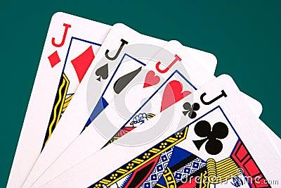Cards four cards 04 jacks