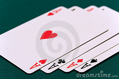 Cards four or two card 01 aces