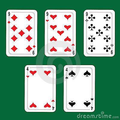 Cards, winnings combinations of poker.