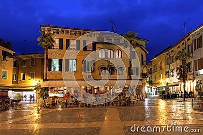 Carducci Square in Sirmione, Italy
