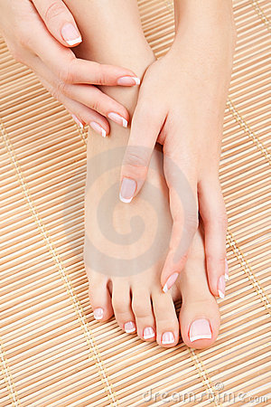 Care for woman nails