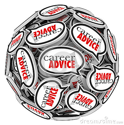 Career Advice Speech Bubble Sphere Job Work Tips