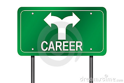 Career choices sign