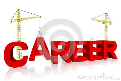 Career, crane concept, building, buzzword