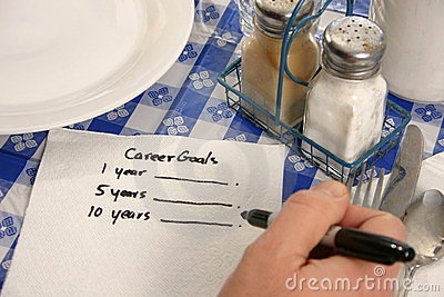 Career Goals on a napkin