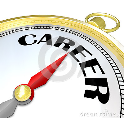 Career Gold Compass Directions Point to Success in Job