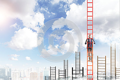 Career growth Stock Photo