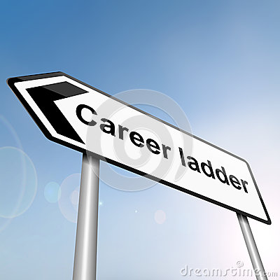 Career ladder concept.