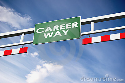 Career way direction board in way