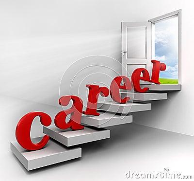 Career word on stair