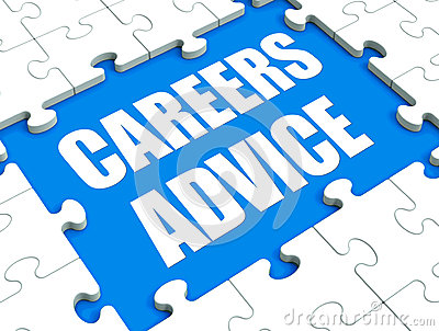 Careers Advice Puzzle Shows Employment Guidance Advising And Ass