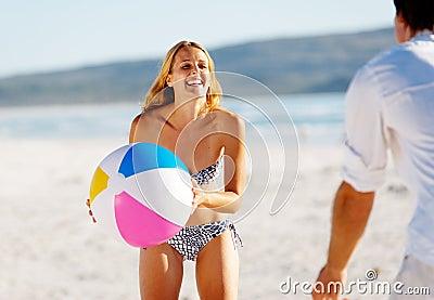 Carefree beachball fun