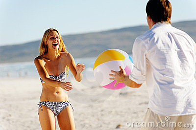 Carefree beachball fun