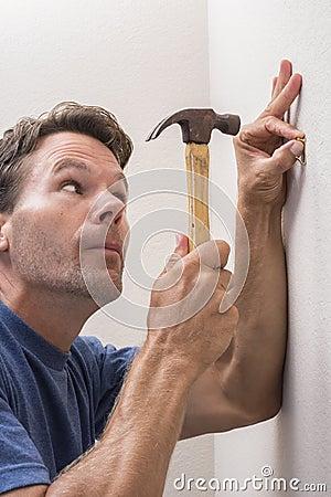 Careful Hammering Stock Photo Image 58626931