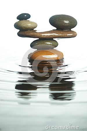 Carefully balanced stones