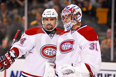 Carey Price and Thomas Plekanec,Montreal Canadiens Editorial Stock Image