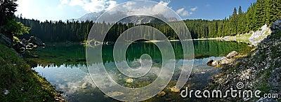 Carezza Lake (Karersee) in the Italian Dolomites